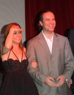 "Co-Executive Producer-Sarah Nean Bruce alongside Music Composer-Kristopher Carter at the ""Yesterday Was A Lie"" theatrical release premiere & party December 2009"
