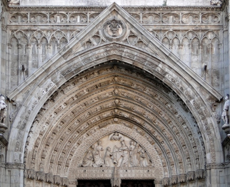 Tympanum Puerta del Perdón, Cathedral of Toledo ~ Typananum Door of Forgiveness (Wiki Image