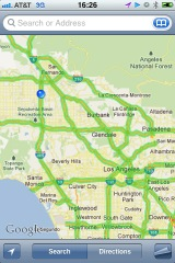 L.A. Traffic GREEN like a Christmas Tree?! (my iPhone screen shot)
